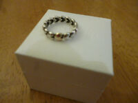 Genuine Hallmarked Pandora Large Gold Heart Ring including box. BOXED & Can Post if Required.