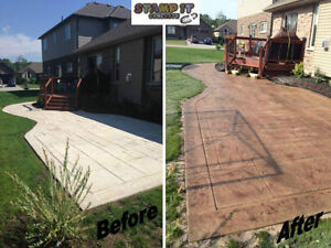 Stamped Concrete Resealing / Restoration And More! London Ontario image 6