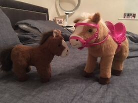 Interactive baby born ponies as new!!