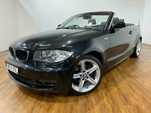 2009 BMW 125i E88 MY09 Black 6 Speed Automatic Convertible Kingsgrove Canterbury Area Preview