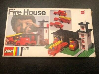 Vintage 1973 Fire House 570 Lego Set with instructions & box.