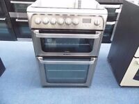 EX-DISPLAY STAINLESS STEEL HOTPOINT DUAL FUEL 60 WIDE COOKER REF: 13523