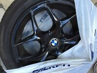 "BMW X5 / X6 Black Rims [ Wheels AND Tires included ] 20"" inch"