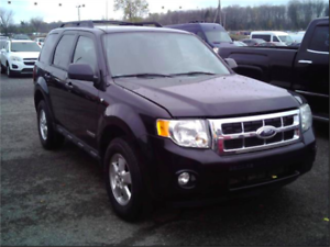2008 Ford Escape XLT 4WD! ONLY 78 KM! Black! Clean Title!