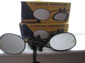 PAIR OF MGI MILENCO TOWING MIRRORS, UNIVERSAL FITTING & IN ORIGINAL BOXES