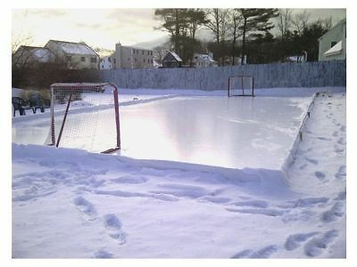 32'X56' Hockey/Ice Skating Rink White Liner/Film Backyard Practice DIY