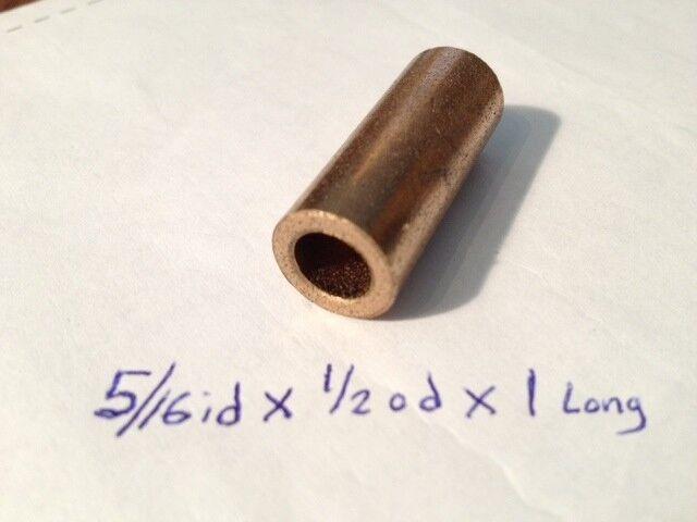 Oilite Bushing Bronze New 5/16 id x 1/2 od x 1 Brass Bearing insert motor sleeve