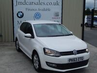 VOLKSWAGEN POLO 1.2 TDI MATCH EDITION 5DR (WARRANTY AVAILABLE) (white) 2013