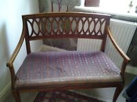 ANTIQUE SEAT, CHAIR