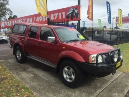 2004 Nissan Navara D22 ST-R (4x4) Burgundy 5 Speed Manual
