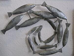 Decorative Shoal Of Mackerel Fish Wall Art  Plaque  new  seaside FREE POST