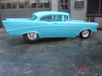 AMT 1/25 57 Chevy Exhaust Deleted Resin Cast Pro Street Chassis