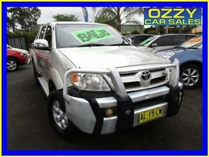 2006 Toyota Hilux GGN25R 06 Upgrade SR5 (4x4) Silver 5 Speed Automatic Dual Cab Pick-up Minto Campbelltown Area Preview
