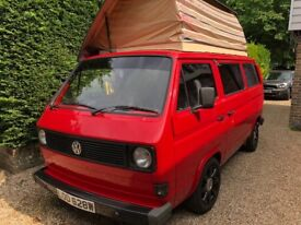 T25 VW Campervan Air Cooled 2.0L petrol, 4 speed manual 12 Months MOT, Red, Lowered suspension
