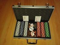 Poker Game Set + Aluminium Briefcase Casino Game