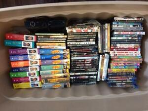 100 DVDs inc, Full Seasons, Blue Rays, DVD Player