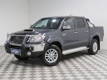 2013 Toyota Hilux KUN26R MY12 SR5 (4x4) Grey 4 Speed Automatic Dual Cab Pick-up Jandakot Cockburn Area Preview