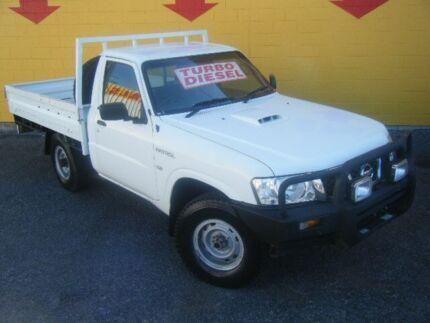 2010 Nissan Patrol GU 6 MY10 DX White 5 Speed Manual Single Cab Winnellie Darwin City Preview