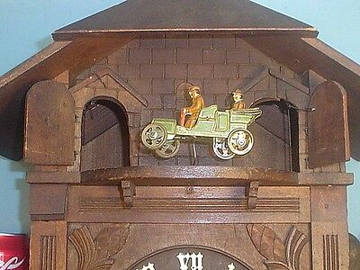 LARGE UNUSUAL ANTIQUE /VINTAGE CUCKOO CLOCK MADE IN GERMANY