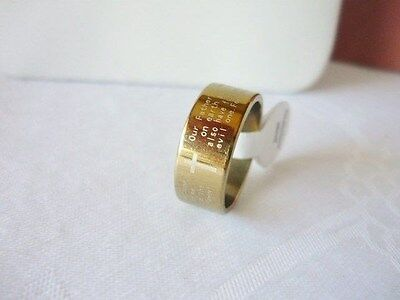 Stainless Steel Prayer Cross Ring (English) Size:  6.5, 7.5,10, 11, 12.5  on Rummage