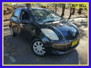 2007 Toyota Yaris NCP91R YRS Black 4 Speed Automatic Hatchback Lansvale Liverpool Area Preview