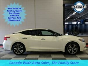 2017 Nissan Maxima SL, Leather, Sunroof, Back Up Camera, Heated
