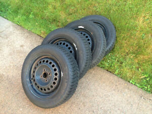 Michelin X-Ice Xi3 175/65R15 Winter Tires on Rims