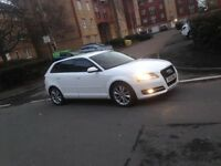 Audi A3 2012. 12 plate 2ltr Sportback white good spec cheap car FSH ( not bmw s3 ford Mercedes)