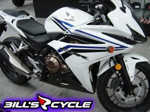 2016 HONDA On Road CBR 500 RASG   Abs Pearl White