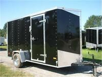 NEW MWT 6X12 SINGLE AXLE ENCLOSED TRAILER