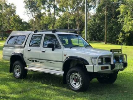 1993 Toyota Hilux RN105R DX White 5 Speed Manual Utility