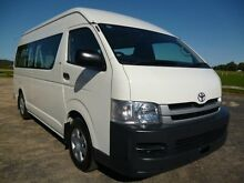 2009 Toyota Hiace KDH223R MY08 Commuter White 5 Speed Manual 4D Bus Erina Gosford Area Preview