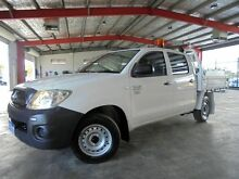 2011 Toyota Hilux TGN16R MY10 Workmate White 5 Speed Manual Utility Welshpool Canning Area Preview