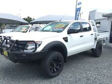 2012 Ford Ranger PX XL (4X4) White 6 Speed Manual CREW C/CHAS UTE Newcastle 2300 Newcastle Area Preview