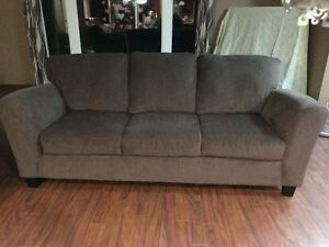Brown Couch & Chair