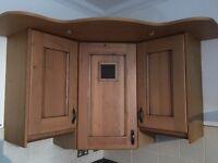 Kitchen units with solid oak designer doors
