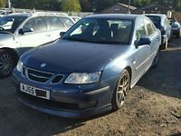 saab 9-3 2006 aero 2.0 turbo breaking for spare parts many part still available call on 07593085858