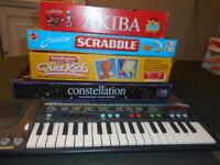 Four board games and keyboard for 5 - 14 years old.
