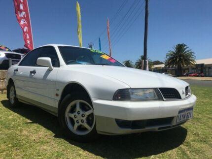 2001 Mitsubishi Magna TJ Solara Advance White 4 Speed Automatic Sedan