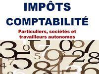 Comptabilité, Impôts (sociétés et particuliers), paie, TPS/TVQ