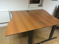 Delta quality brown desk x 2 available (Delivery)