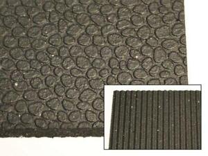 Rubber Fitness Flooring - 4 x 6 x 1/2