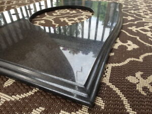 Vanity granite counter top -black-used like new condition