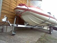 force3 GT FLATCRAFT ON TRAILER NEW BEARINGS AND JOCKEY WHEEL