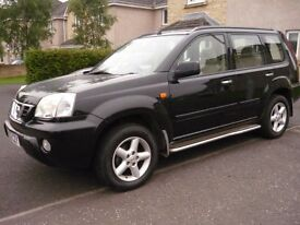 NISSAN X TRAIL TURBO DIESEL, LADY OWNER LAST 12 YEARS, TOP OF THE RANGE. MOTED DEC 16