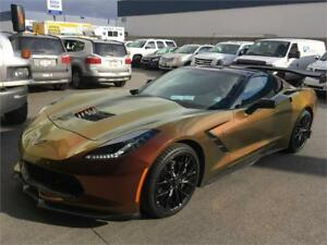 2016 Chevrolet Corvette COUPE Stingray wrapped, wing spoiler