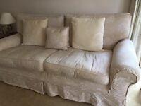 Two Laura Ashley 3 Seater sofas