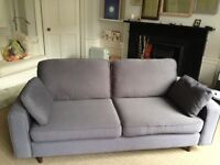 Sofa Workshop modern grey three seater sofa. Removable covers