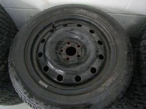 Subaru Impreza winter tire package on steele wheels