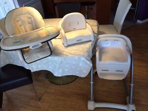 Chaise haute de luxe Graco 3 DANS 1